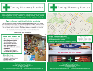 Flyer tooting pharmacy practice
