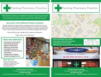 Flyer tooting pharmacy practice
