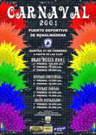 Poster carnaval benalmadena 2001