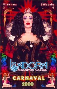 Poster isadora carnaval 2000