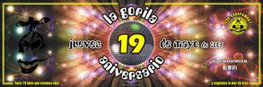 Poster la gorila aniversario 19